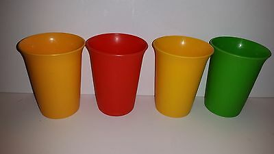 4 Tupperware Bell Tumblers Cup # 109 Juice Cups