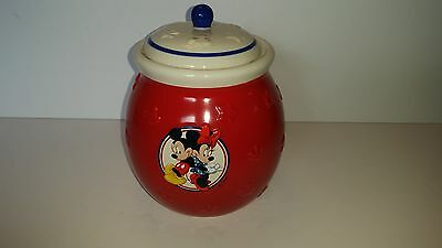 Mickey Mouse Red Ceramic Cookie Treat Jar