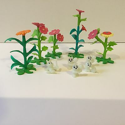 Kinder Surprise Egg Toys - Glow Bug Worms And Plants 1998 (Glow In The Dark)