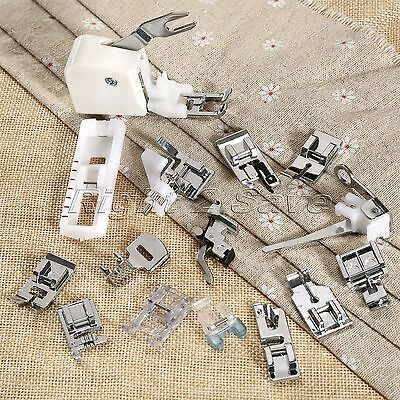 1 Set/15pcs Presser Foot with Manual for Janome Singer Brother Sewing Machine