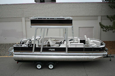 New 24  fish and fun Grand Island pontoon boat with upper roof---One only