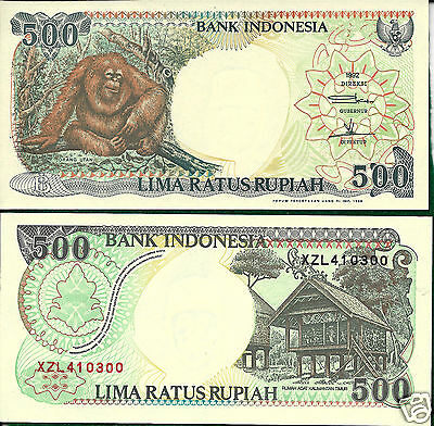 Indonesia P128h 1999 500 Rupiah Replacement Issue Uncirculated!
