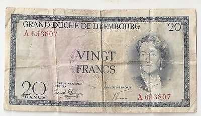 Luxembourg 20 francs ND (1955)