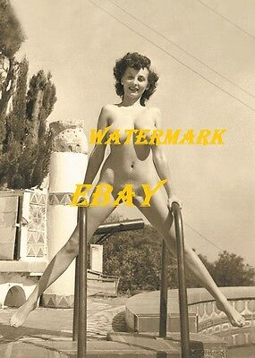 """Donna Mae) """"Busty"""" Brown 1950s-Pinup Girl, Burlesque Dancer, Vintage-Photo"""