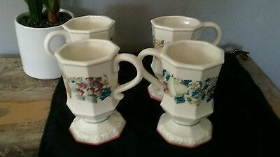 Set of four Avon Sweet Country Harvest coffee mugs