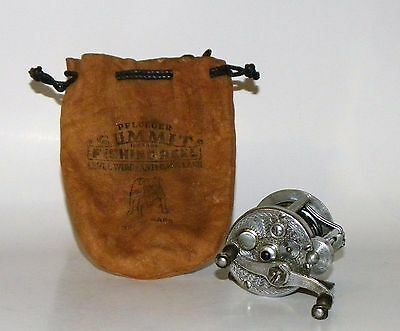 Vintage Pflueger Summit No. 1993 Fishing Reel And Pouch No Reserve