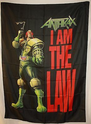 "Anthrax Judge Dredd 30"" x 42"" Cloth Poster Fabric Flag Tapestry Art-New!"