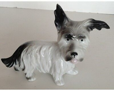 Vintage German Porcelain Terrier Dog Figurine