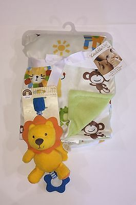 New Baby Blanket And Rattle Chime And Chew Lion Lot