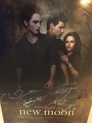 TWILIGHT Cast Autographed New Moon Poster