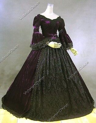 Victorian Premium Velvet Princess Dress Gown Theater Witch Halloween Costume 3X