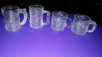 DC Comics Batman Set of 4 Glass Mugs