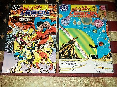 Who's Who In The Legion Of The Super-Heroes 1 2 3 4 5 6 7 Set Rare Dc Comics