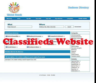 Classifieds  Business Directory Website Hosting & Great Support
