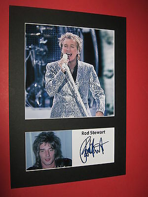 Rod Stewart A4 Photo Mount Signed Printed Ticket Cd