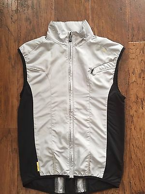 2XU Micro Climate Full Zip Vest Men's Size Small Black Grey Reflective
