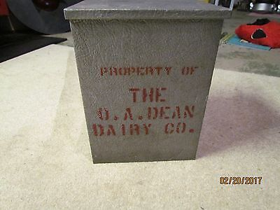 VINTAGE O. A. DEAN DAIRY Co. milk bottle box delivery box