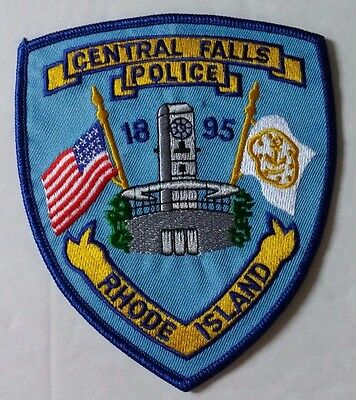 "Rhode Island - Central Falls Police 1895 Shield Shoulder Patch 5"" X 4-1/4"""