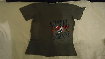 """Pepsi """"live For Now"""" T-Shirt Grey Size L Brand New"""