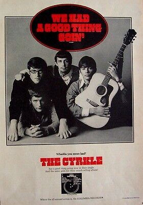 THE CYRKLE 1967 Poster Ad WE HAD A GOOD THING GOIN' neon