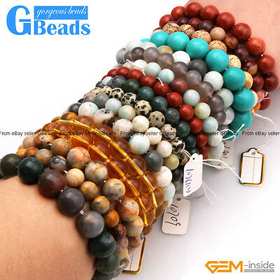 Natural Beaded Gemstone Bracelet 7 Inch Assorted Stones In Bulk Free Shipping