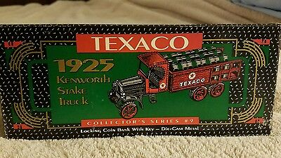 Texaco Collectors Series bank #9 Kenworth Stake Truck