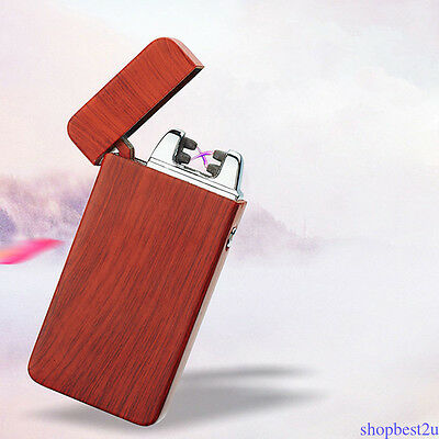 Luxury USB Electric Double Arch Pulse Plasma Lighter Flameless Cigarette 6 Color