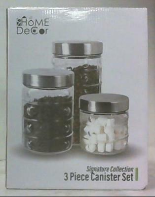 NEW R Home Decor Signature Collection 3 Pieces Canister Set $34.99