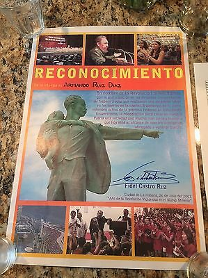 Fidel Castro Autograph - Signed Proclamation Authentic JSA PSA/DNA ?