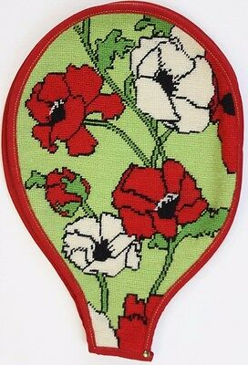 """""""Fab Floral c60s Needlepoint Tennis Racquet Cover"""""""
