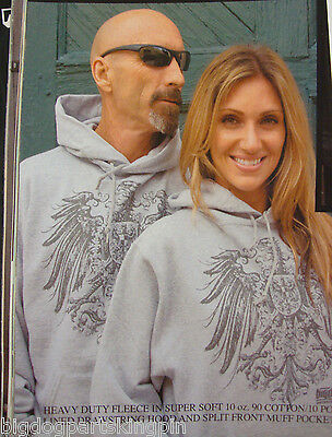 Big Dog Motorcycles Prussian Eagle Pullover Hooded Sweatshirt W/ Front Design
