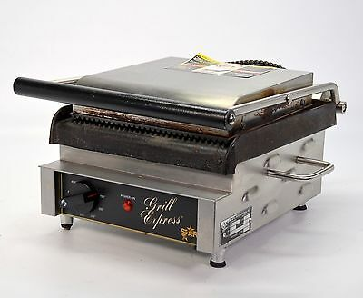 "Star GX10IG 10"" Cast Iron Panini Grill Express Heavy Duty Top Bottom Groove 120V"