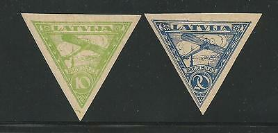 Latvia 1921 Air Mail forgery triangle stamp set of 2