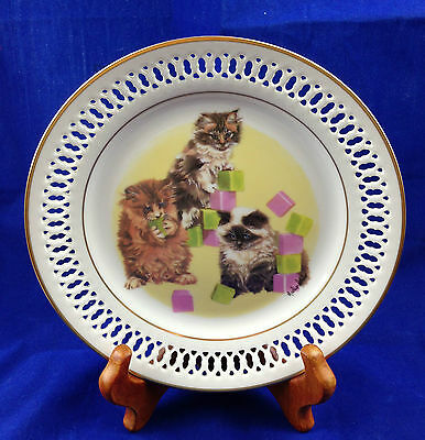 """porcelain limited edition plate bing and grondahl """"The Kittens""""  Marilyn Leader"""