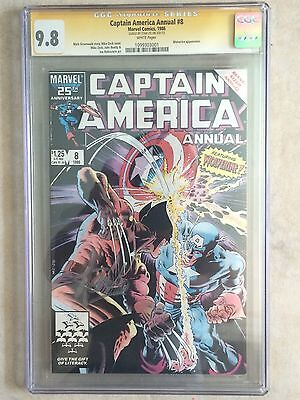 Captain America Annual #8 Ss Cgc 9.8 Stan Lee  Vs Wolverine