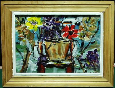 """Acrylic Painting - Canadian Richard Thomson (1930 - ) - """"Flowers On A Chair"""""""