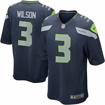 Nike Youth Seattle Seahawks Russell Wilson #3 Home Jersey Blue Large 14/16