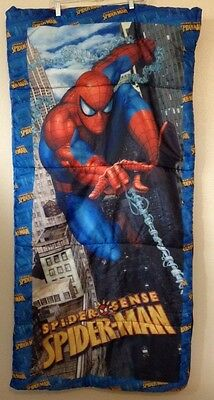 Spiderman Superhero Sleeping Bag Marvel Camping Outdoor Indoor Kids Boys