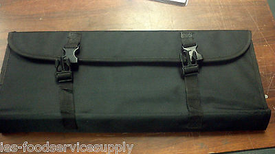 "Chef's Knife Bag Case Canvas with Heavy Carry Handle Black up to 18"" Long Knives"
