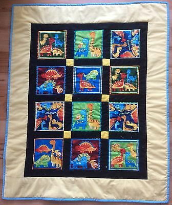 Cot size Patchwork quilt - Darling Dinisaurs