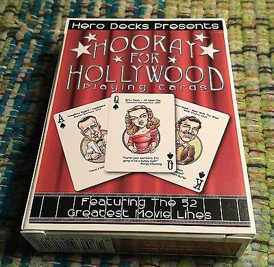 Hero Decks - Hooray For Hollywood Playing Cards - Brand New Sealed Deck!