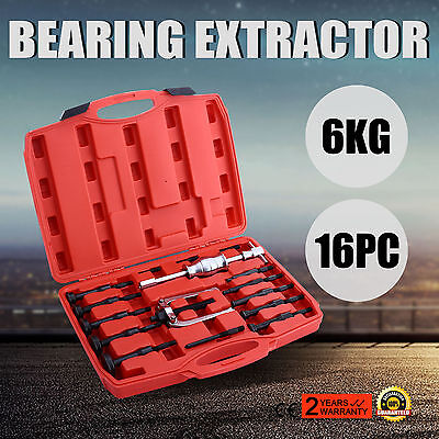 UK 16 Piece Bearing Extractor Set Internal Blind Remover Bushes Puller DIY