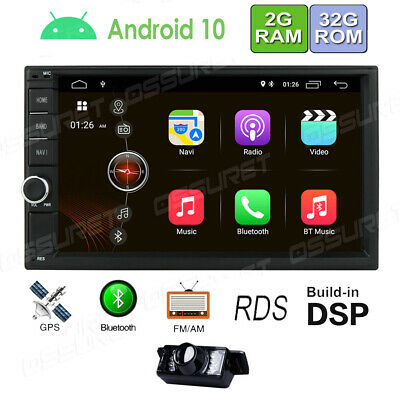"Android WiFi GPS HD 7"" Double Din Car Stereo MP5 Player Radio +Reverse Camera"