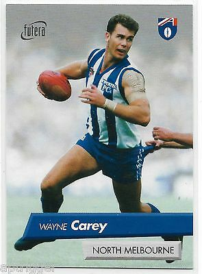 1997 Futera (17 of 26) WAYNE CAREY North Melbourne Mint - Extremely Rare 042/50
