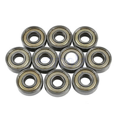 10Pcs Carbon Steel 608zz Deep Groove Ball Bearing For Skateboard Roller Blade BE