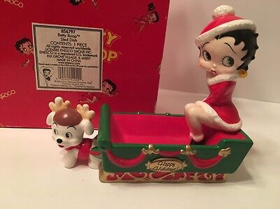 Betty Boop Christmas Dish Figurine New In Box