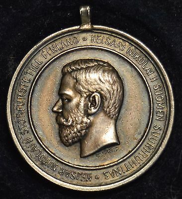 Nicholas II Silver Medal for the Finnish Economic Society with Case