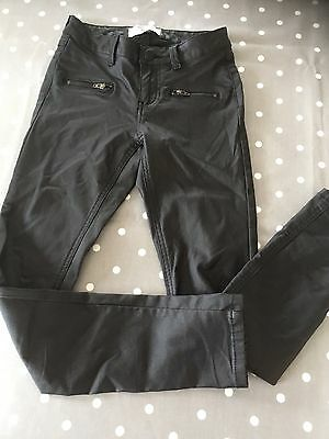 Girls Leather Look Trousers Size 11years