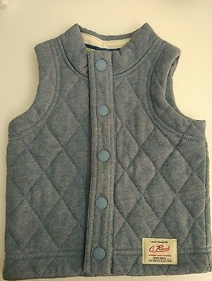 Country Road Baby Boys Blue Vest Size 1