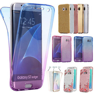 360 Silicone Shockproof Protective Clear Case Cover For Samsung Galaxy S6 S7 J3